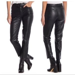 Free People 24 Black Faux/Vegan Leather Pants NWT